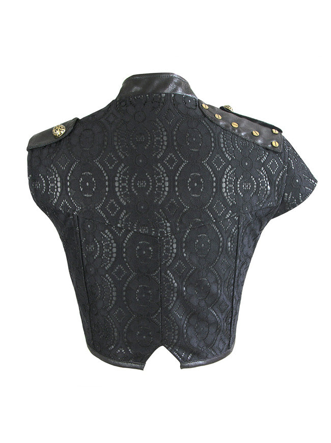 Steampunk Gothic Lace Brocade Corset Shrug