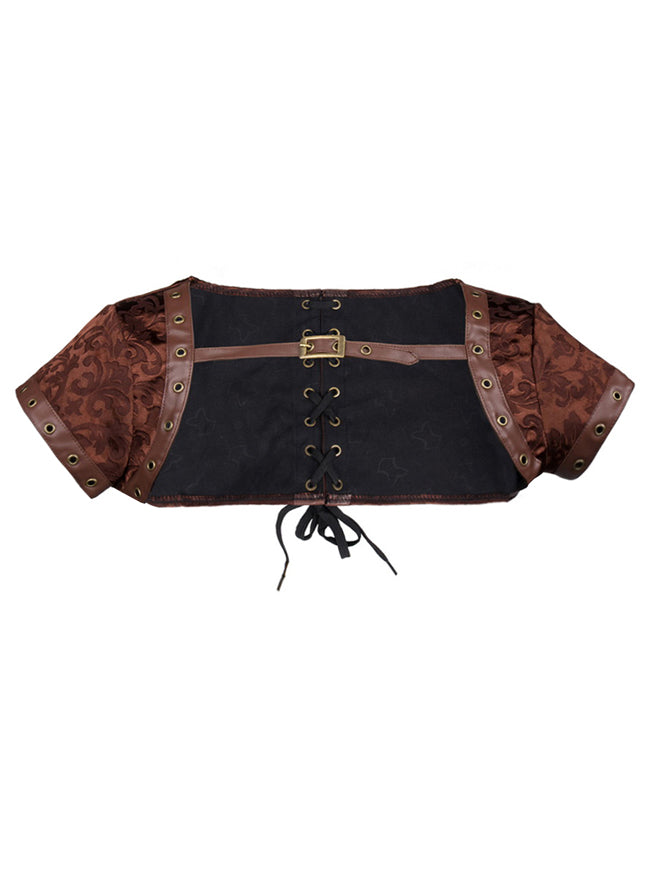 Steampunk Gothic Retro Brocade Corset Shrug Jacket Accessory