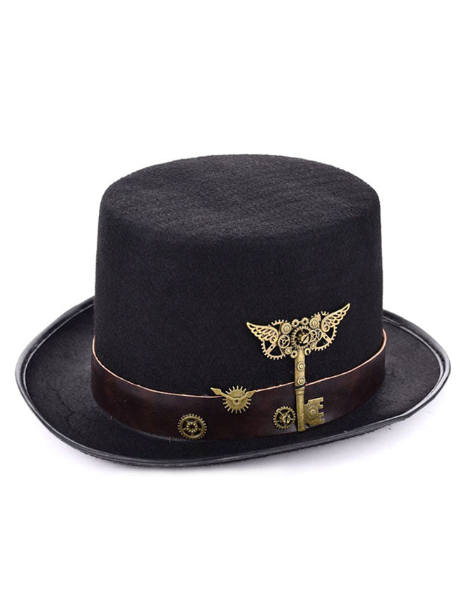 Steampunk Accessory Metal Gears Masquerade Party Costume Top Hat