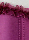 Women's Sexy Satin Push up Padded Halter Zipper Bustier Corset Top Purple Detail View