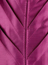 Women's High Quality Satin Padded Halter Zipper Waist Cincher Bustier Corset Top Purple Detail View