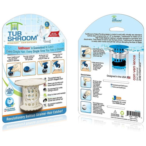 Image of TubShroom The Revolutionary Tub Drain Protector