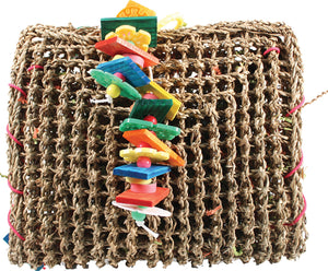 A&e Cage Company - Happy Beaks Vine Mat Forage Pouch Bird Toy