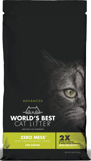 Worlds Best Cat Litter - Worlds Best Cat Litter Zero Mess Pine Scent (Case of 5 )