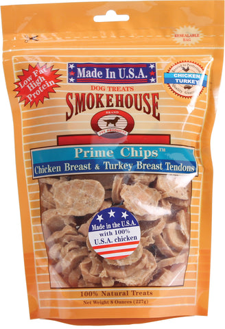 Smokehouse Pet Products - Usa Prime Chips Dog Treats Resealable Bag