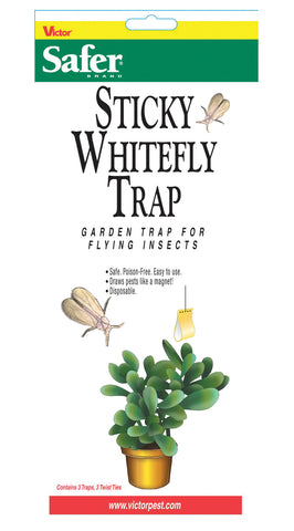 Woodstream Lawn & Grdn  D - Safer Sticky Whitefly Disposable Trap (Case of 24 )
