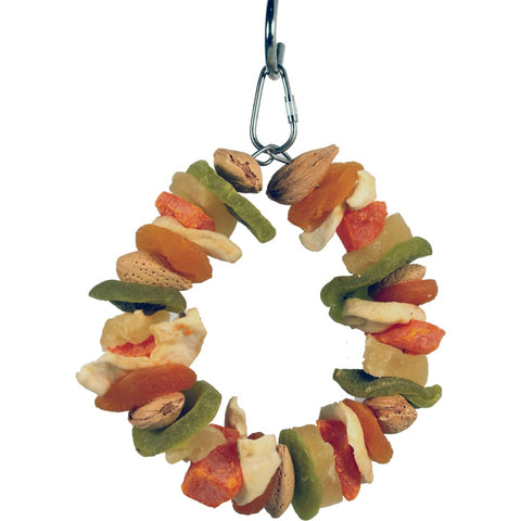 A&e Cage Company - Happy Beaks Deluxe Fruit Ring Toy - MULTICOLORED - Pet