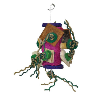 A&e Cage Company - Java Wood Fun Spongy Bird Toy - ASSORTED / 6X7 IN - Pet