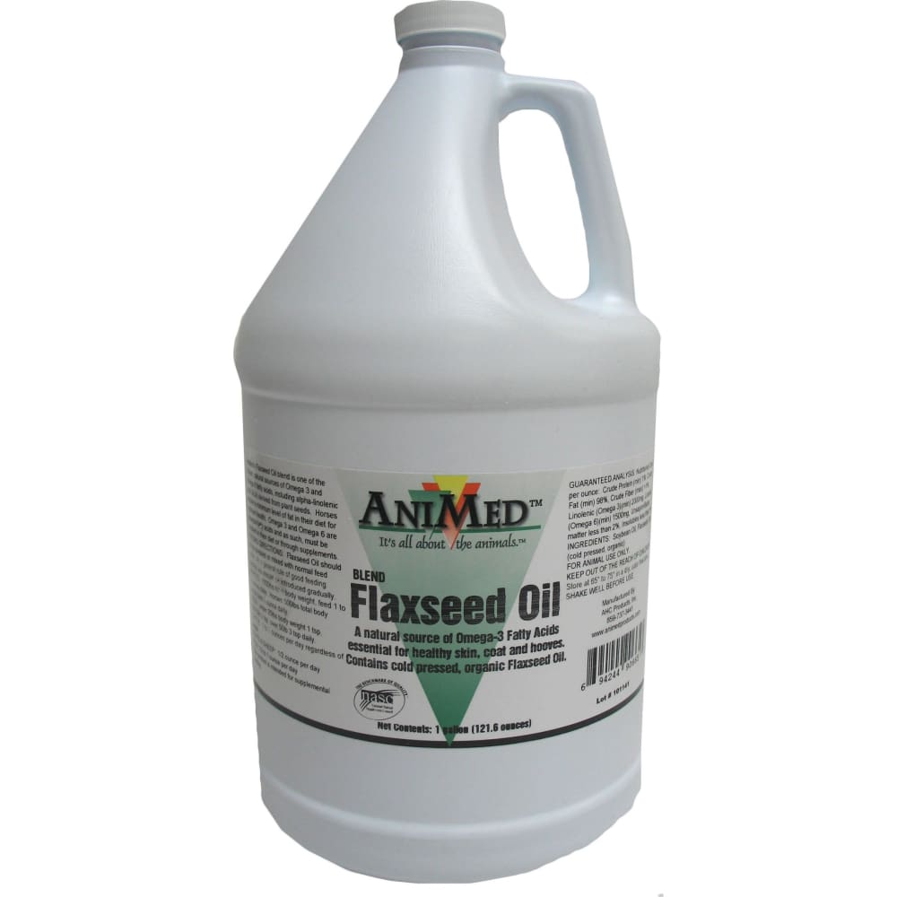 Animed - Commodities D - Blended Flaxseed Oil - 1 GALLON - Pet
