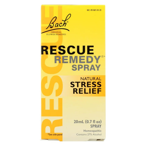 Image of Bach Flower Remedies Essences Rescue Remedy Spray Original Flower - 0.7 Fl Oz - Eco-Friendly Home & Grocery