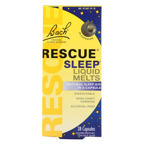 Image of Bach Flower Remedies Rescue Sleep Liquid Melts - 28 Capsules - Eco-Friendly Home & Grocery