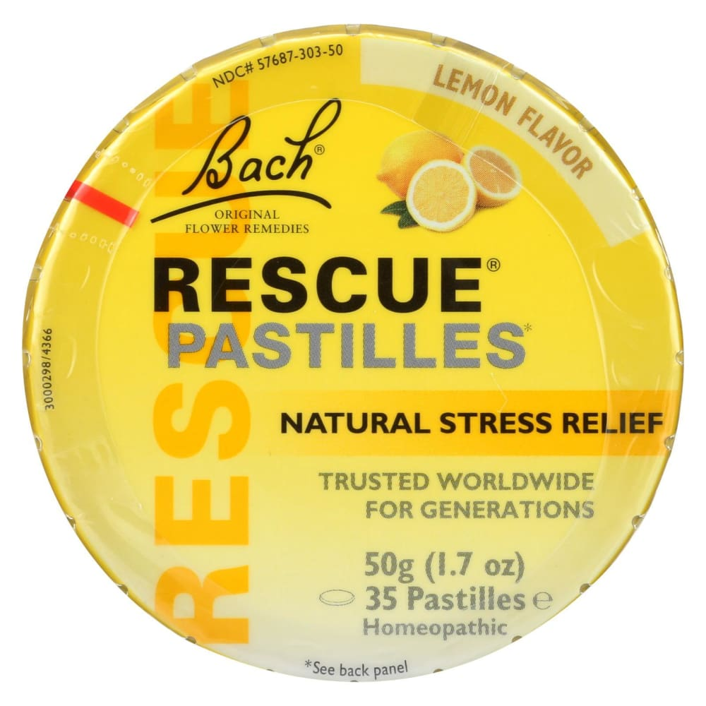 Bach Rescue Remedy Pastilles - Lemon - 50 Grm - Case Of 12 - Eco-Friendly Home & Grocery