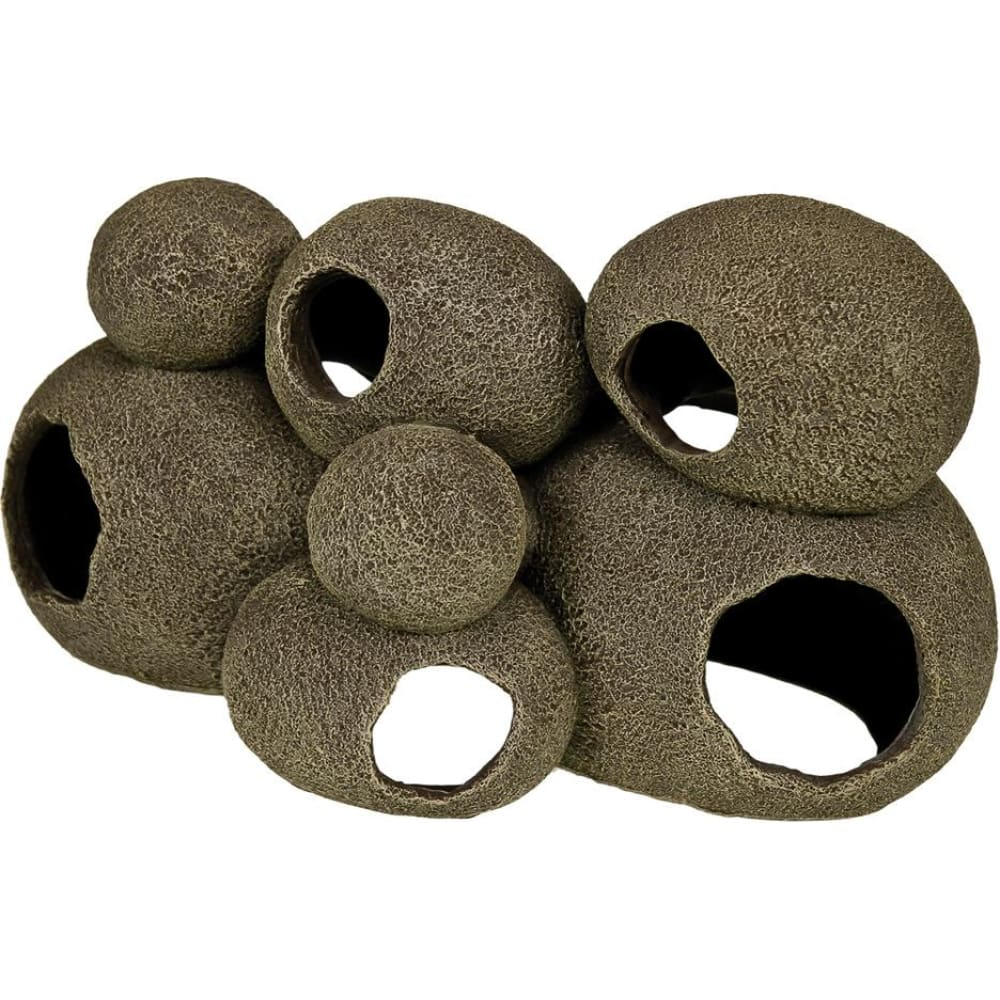 Blue Ribbon Pet Products - Exotic Environments Swim-through Stone Pile - GRAY / LARGE - Pet