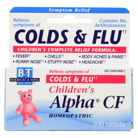 Image of Boericke And Tafel Childrens Alpha Cf - 100 Tablets - Eco-Friendly Home & Grocery