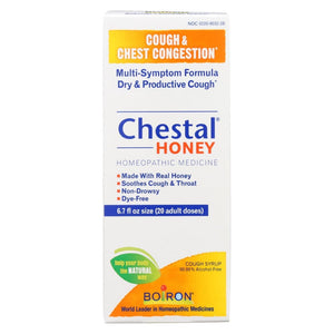 Boiron Chestal - Cough And Chest Congestion - Honey - Adult - 6.7 Oz - Eco-Friendly Home & Grocery