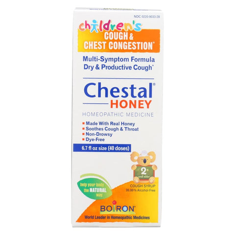 Image of Boiron Chestal - Cough And Chest Congestion - Honey - Childrens - 6.7 Oz - Eco-Friendly Home & Grocery