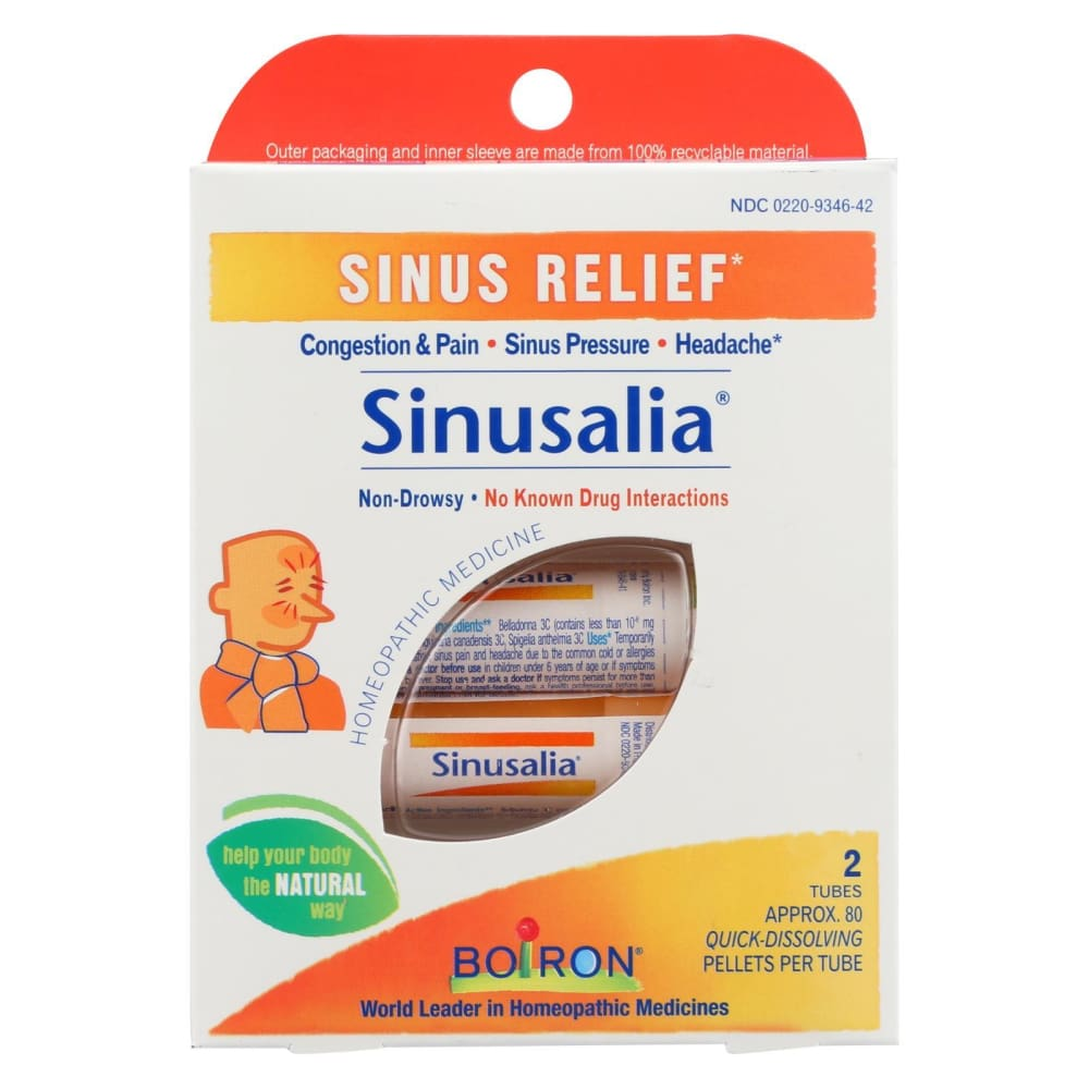 Boiron Sinusalia Pellets - 2 Doses - Eco-Friendly Home & Grocery