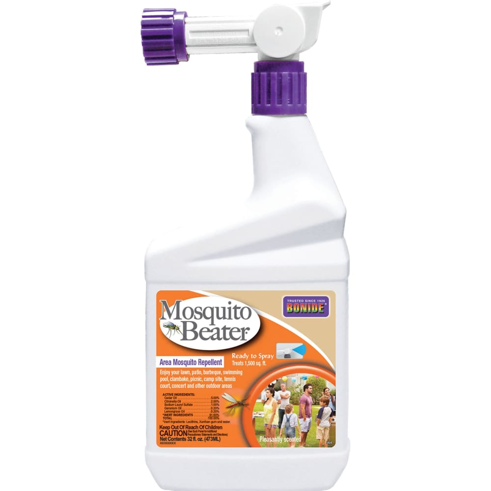 Bonide Products Inc P - Mosquito Beater Area Repellent Ready To Spray - 1 QUART - Pet