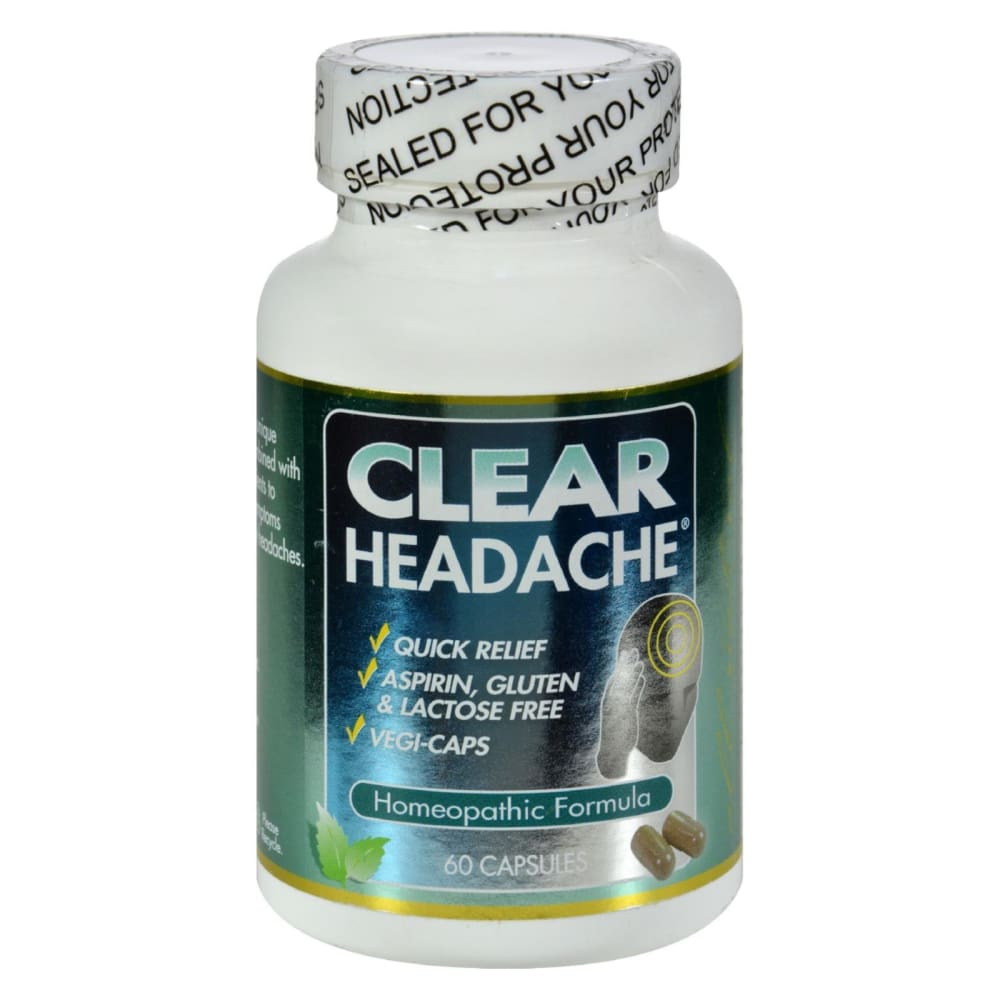 Clear Products Clear Headache - 60 Capsules - Eco-Friendly Home & Grocery