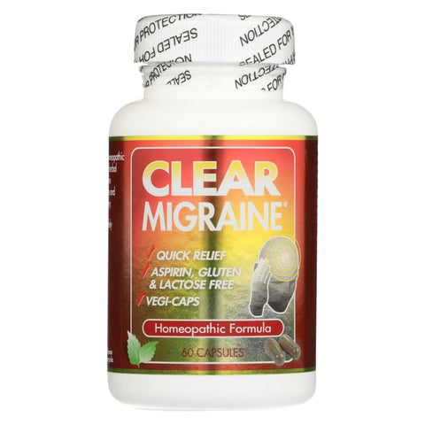 Image of Clear Products Clear Migraine - 60 Capsules - Eco-Friendly Home & Grocery