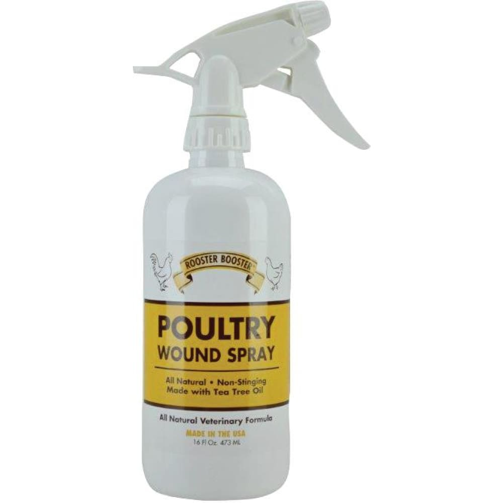 Durvet Inc D - Rooster Booster Poultry Wound Spray - 16 OUNCE - Pet
