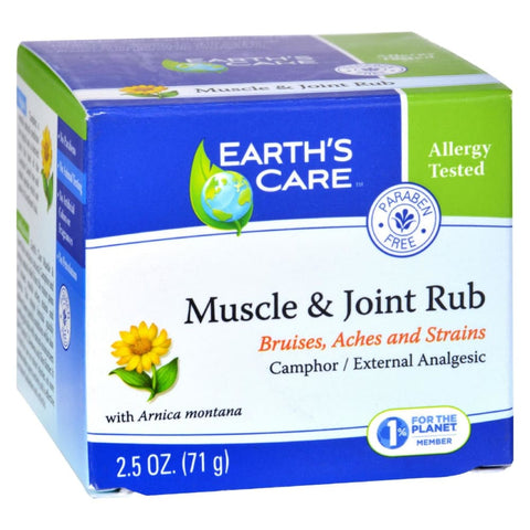 Image of Earths Care Muscle And Joint Rub - 2.5 Oz - Eco-Friendly Home & Grocery