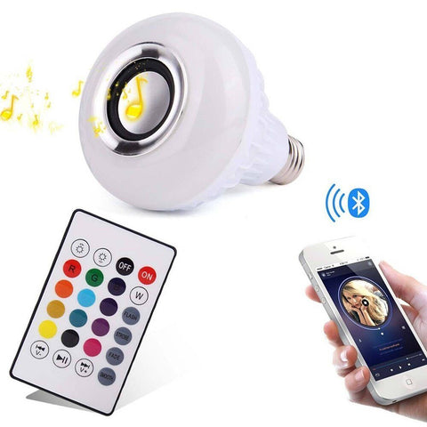 Wireless Bluetooth Speaker LED Light Bulb