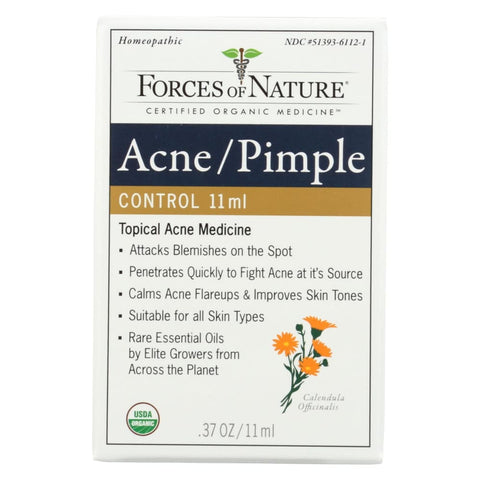Image of Forces Of Nature Organic Acne And Pimple Control - 11 Ml - Eco-Friendly Home & Grocery