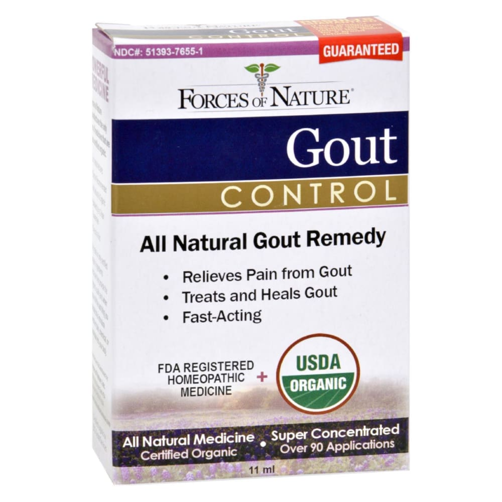 Forces Of Nature Organic Gout Control - 11 Ml - Eco-Friendly Home & Grocery