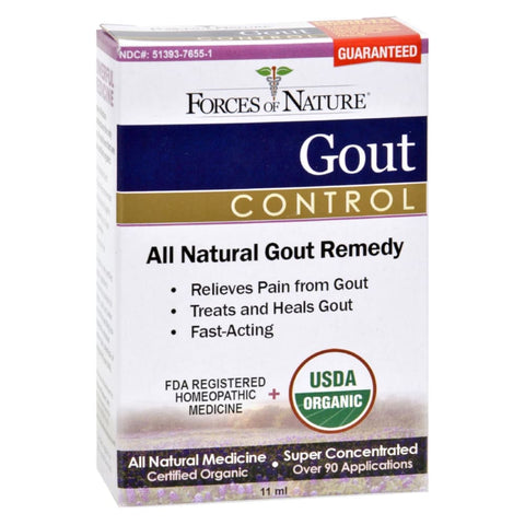 Image of Forces Of Nature Organic Gout Control - 11 Ml - Eco-Friendly Home & Grocery