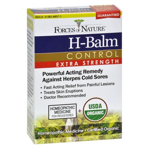 Image of Forces Of Nature Organic H-balm Daily Control - Extra Strength - 11 Ml - Eco-Friendly Home & Grocery