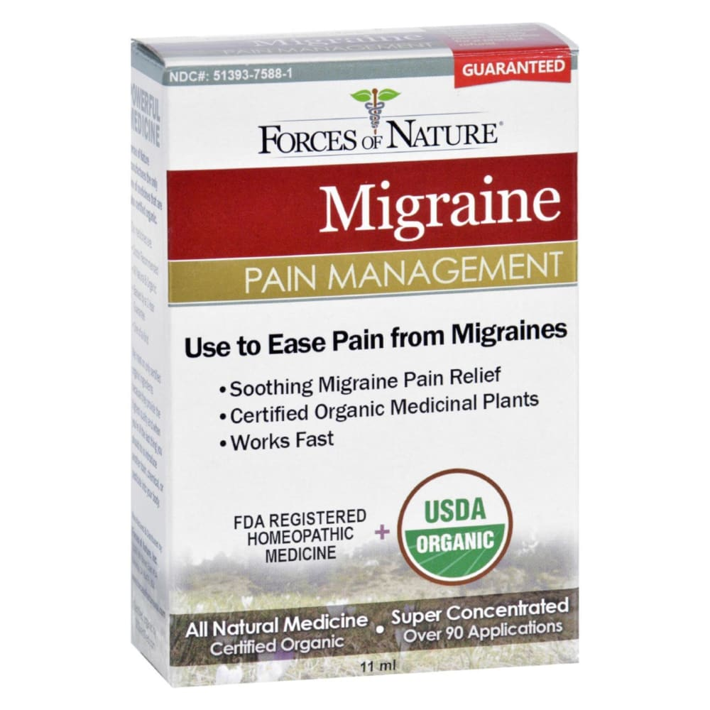 Forces Of Nature Organic Migrane Pain Management - 11 Ml - Eco-Friendly Home & Grocery