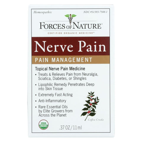 Image of Forces Of Nature Organic Nerve Pain Management - 11 Ml - Eco-Friendly Home & Grocery