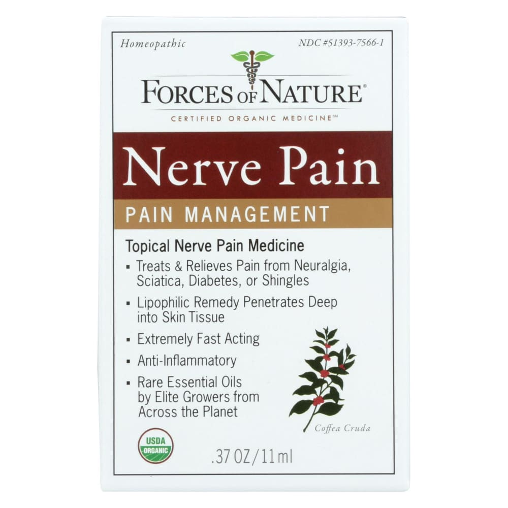 Forces Of Nature Organic Nerve Pain Management - 11 Ml - Eco-Friendly Home & Grocery