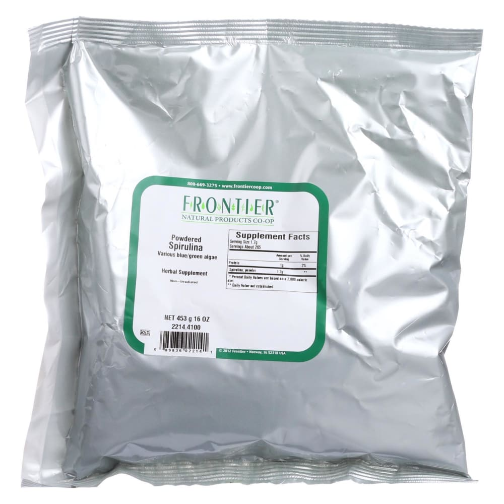Frontier Herb Spirulina Powder - Bulk - 1 Lb - Eco-Friendly Home & Grocery
