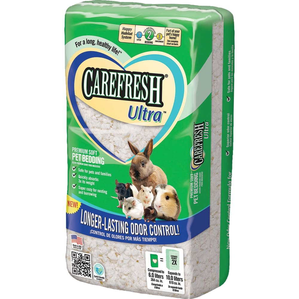 Healthy Pet - Carefresh Complete Ultra Premium Soft Bedding - WHITE / 10 L - Pet