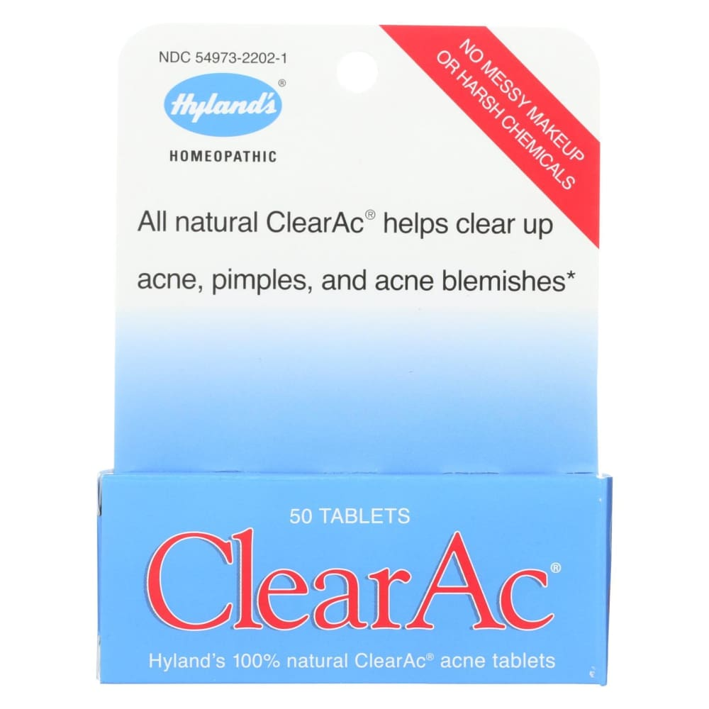 Hylands Clearac - 50 Tablets - Eco-Friendly Home & Grocery