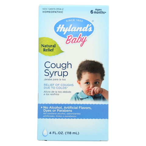 Image of Hylands Homeopathic Baby Cough Syrup - 4 Oz - Eco-Friendly Home & Grocery