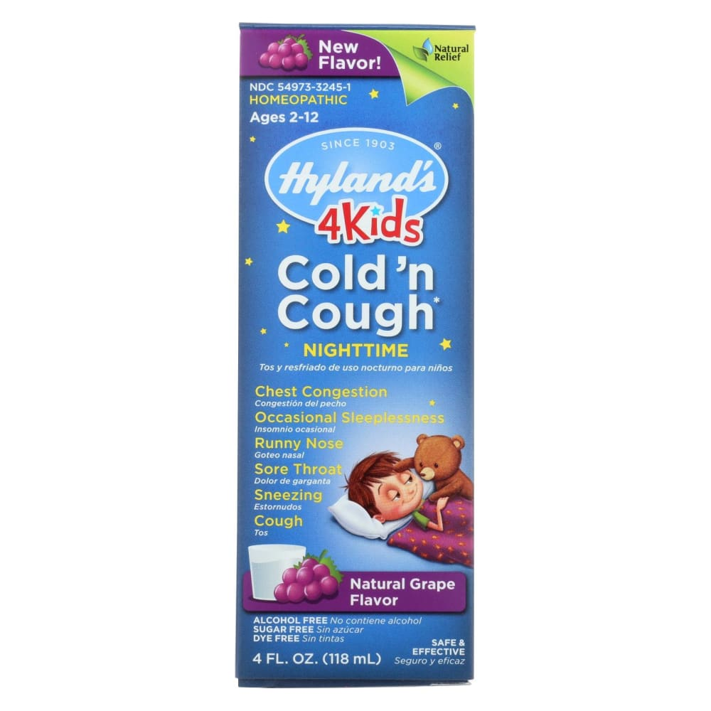 Hylands Homeopathic Cold N Cough - 4 Kids - Nighttime - 4 Oz - Eco-Friendly Home & Grocery