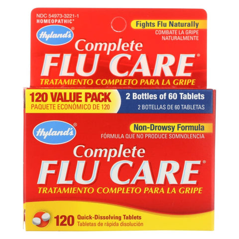 Hylands Homeopathic Complete Flu Care - 120 Tablets - Eco-Friendly Home & Grocery