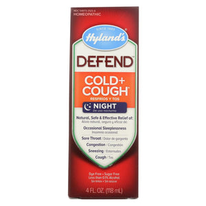 Hylands Homeopathic Defend - Cold And Cough - 4 Fl Oz. - Eco-Friendly Home & Grocery