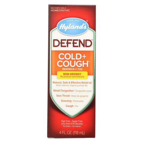Hylands Homeopathic Hylands Defend - Cold And Cough - 4 Fl Oz. - Eco-Friendly Home & Grocery