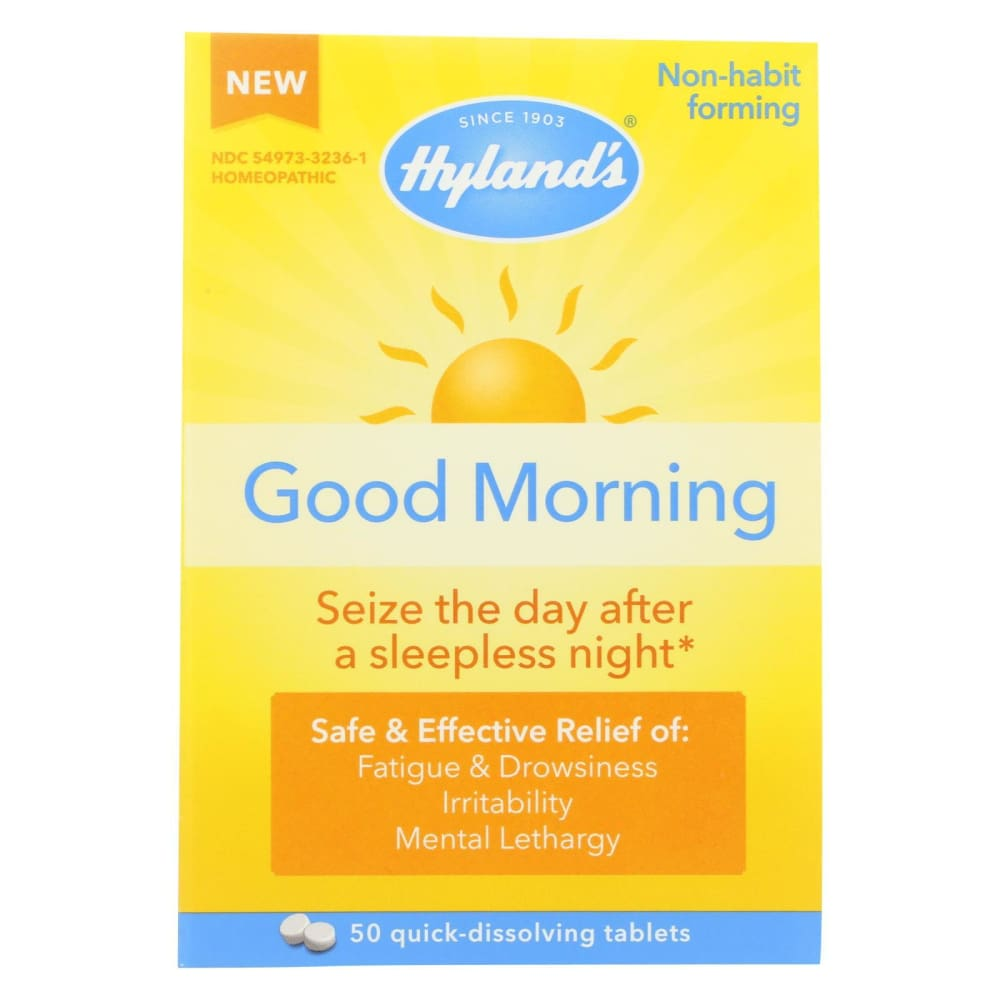 Hylands Homeopathic Good Morning - 50 Tablets - Eco-Friendly Home & Grocery