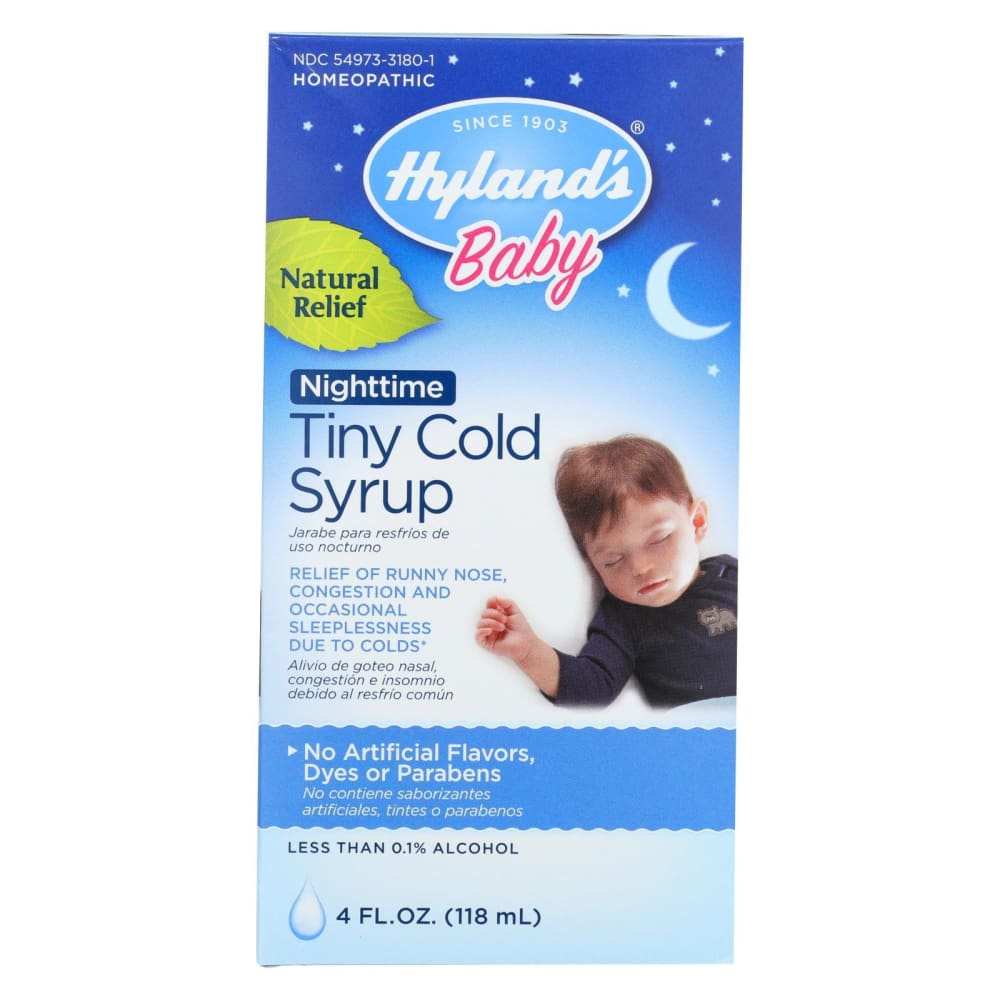 Hylands Homepathic Cold Syrup - Nighttime Tiny - Baby - 4 Fl Oz - Eco-Friendly Home & Grocery