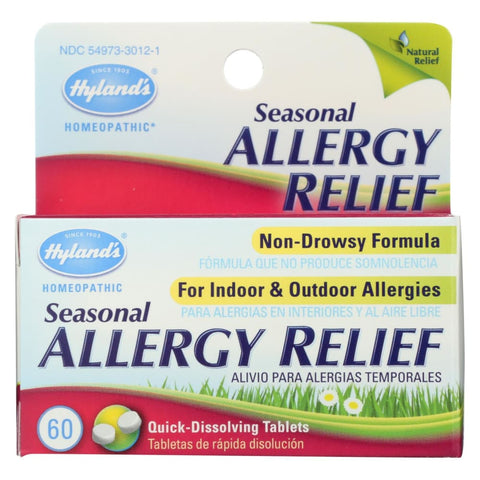 Image of Hylands Homepathic Seasonal Allergy Relief - 60 Tablets - Eco-Friendly Home & Grocery