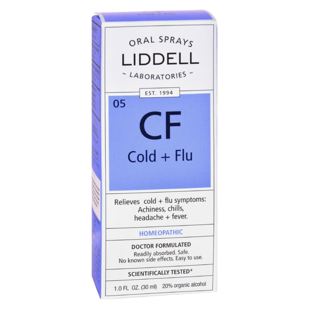 Liddell Homeopathic Cold And Flu Spray - 1 Fl Oz - Eco-Friendly Home & Grocery