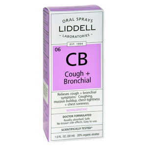 Liddell Homeopathic Cough And Bronchial Spray - 1 Fl Oz - Eco-Friendly Home & Grocery