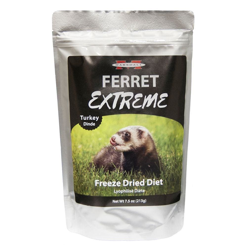 Marshall Pet Prod-food - Ferret Extreme Freeze Dried Diet - TURKEY / 7.5 OZ - Pet