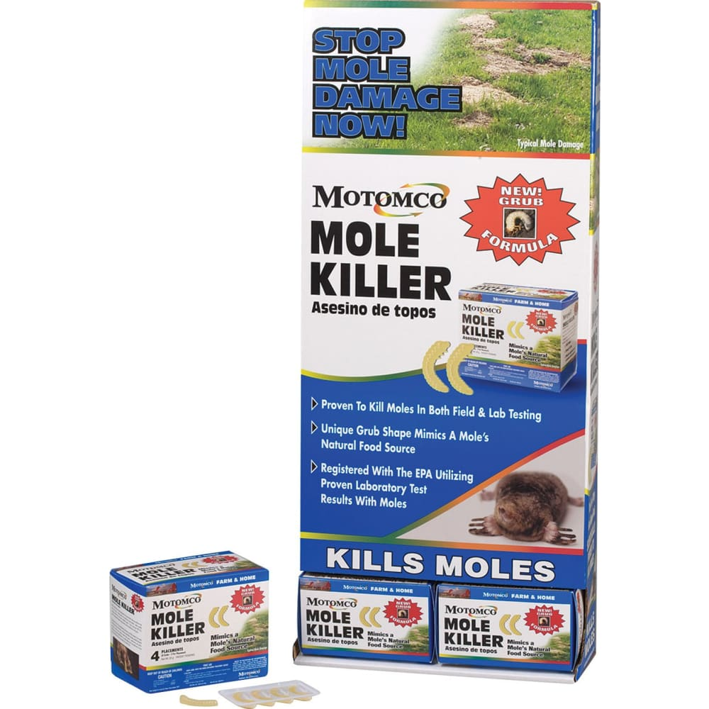 Motomco Ltd D - Mole Killer Grub Formula - 4 PACK - Pet