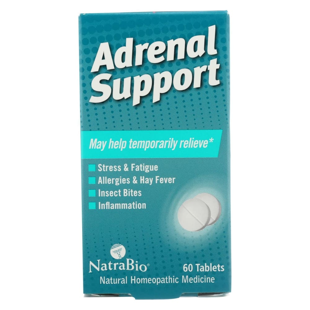 Natrabio Adrenal Support - 60 Tablets - Eco-Friendly Home & Grocery